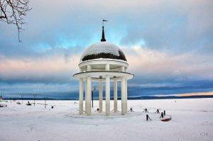 Петрозаводск Ротонда зимой